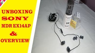 Sony MDR-EX14AP Headset with Mic (Black, In the Ear) Unboxing & Overview