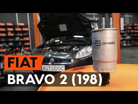 Kā Nomainīt FIAT BRAVO 2 (198) Degvielas Filtrs [AUTODOC VIDEOPAMĀCĪBA]
