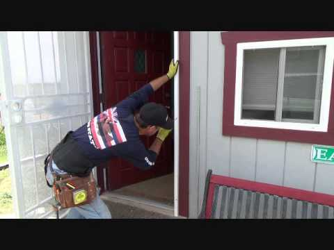 How to install a security screen door...Part 11 - YouTube