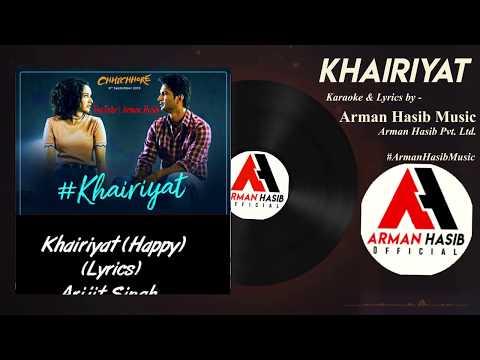 Download Lagu  KARAOKE & S: Khairiyat Happy Full song clean Karaoke with s | Chhichhore | Arijit Singh Mp3 Free