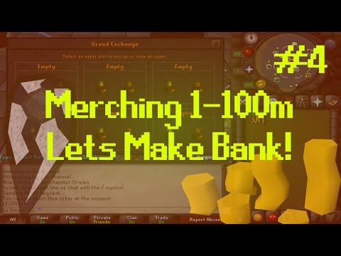 [OSRS] Runescape : MERCHING/FLIPPING 1-100M - ROAD TO BANK Episode #4- INSANE GAINZ