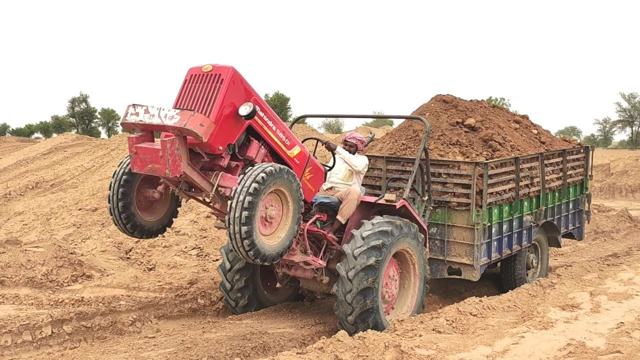 Mahindra 585 Di full load with removed of The Silencer | Good Tractor Voice