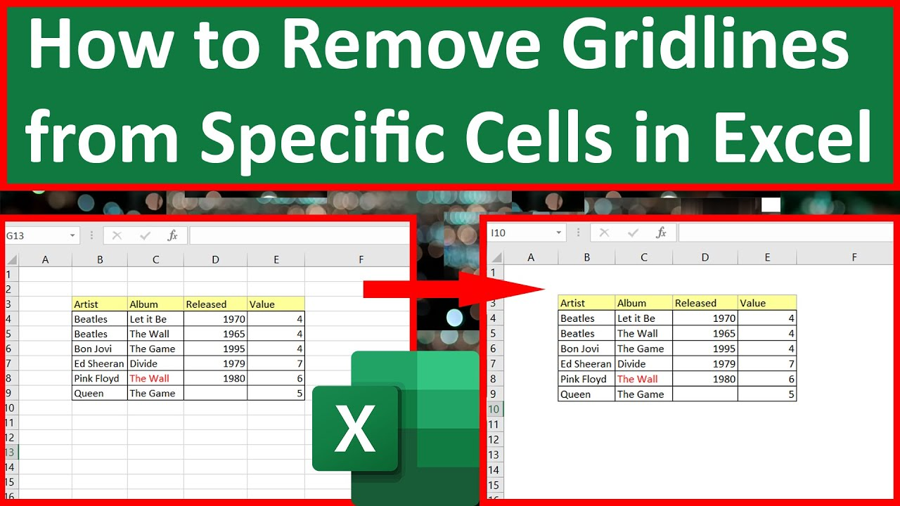 How to Remove Gridlines from Specific Cells in Excel | Remove Gridlines from Selected Cells in Excel