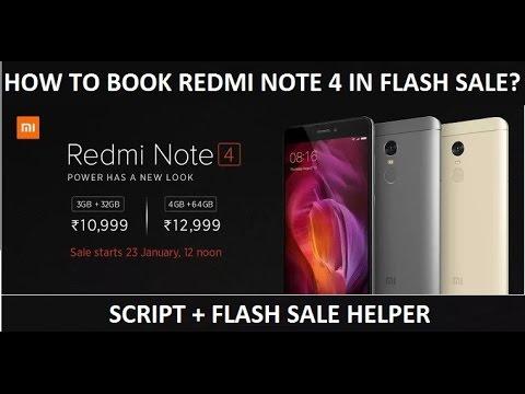 Trick to book Redmi Note 4 Successfully in Flash Sale - [15 Feb 2017 on Flipkart]