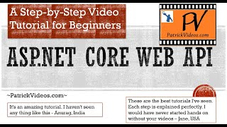 ASP.NET Core 5.0 Web API With C# [2021] Made Easy Using A Project - Step By Step