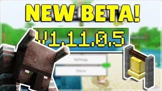 MINECRAFT PE/BEDROCK 1.11.0.5 BETA - VILLAGE & PILLAGE! Minecraft Pocket Edition NEW Changes