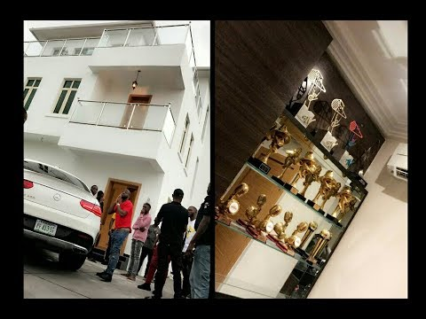 Davido Visits His Completed House Shows Off Expensive Facilities And Interior Unique Home Designs