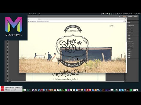 Creating a Wedding Website | Desktop, Tablet, Mobile | Adobe Muse CC | Muse For You