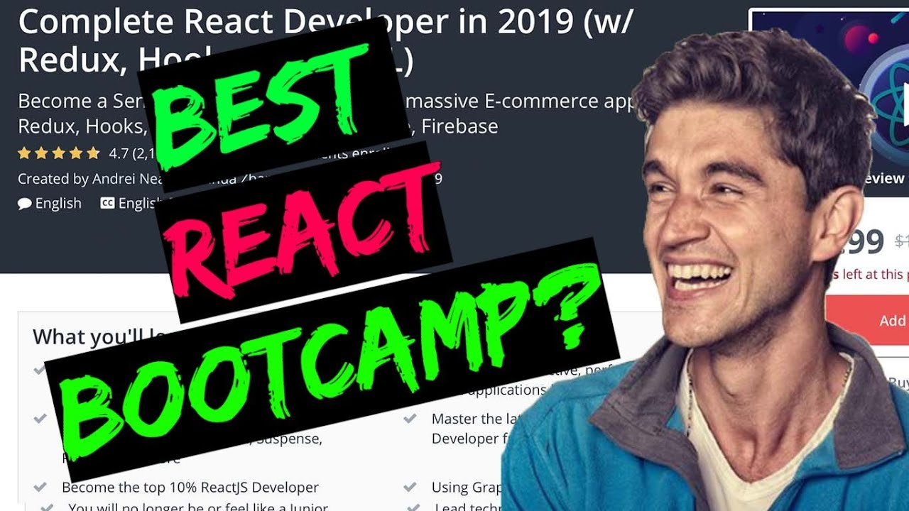 Complete React Developer in 2019 by Andrei Neagoie || Udemy course review