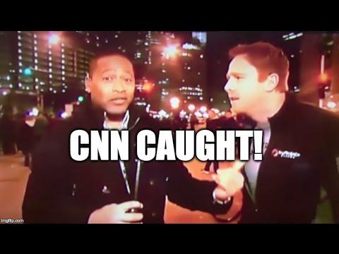 CNN Gets Caught Pretending Their Cameraman Is A Regular Protester! [WATCH]