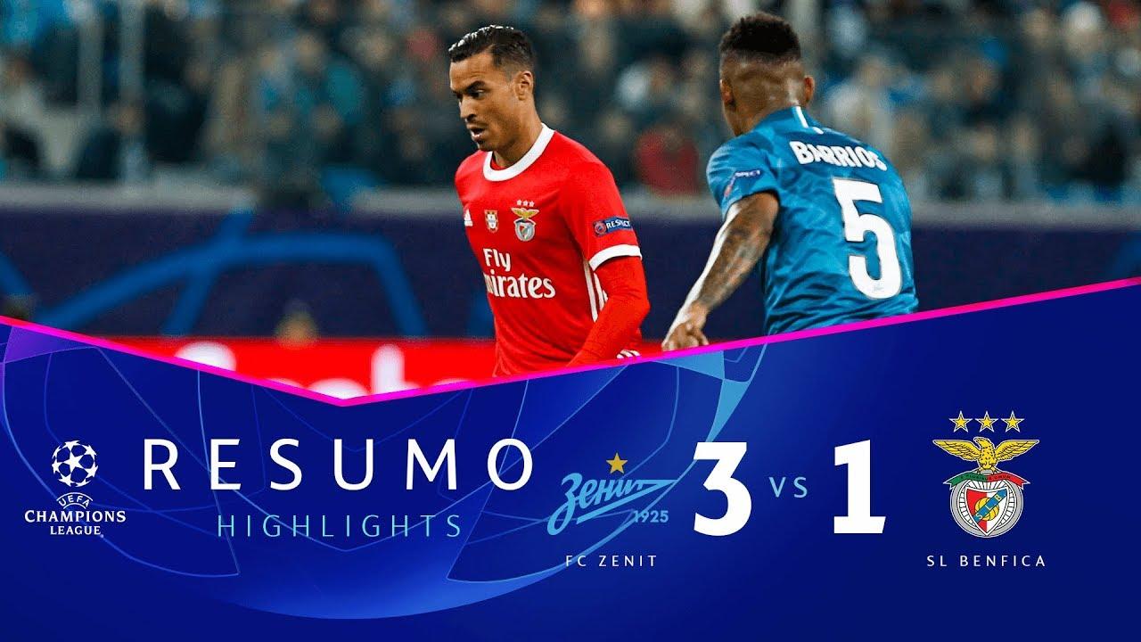 Zenit 3 1 Benfica Liga Dos Campeoes 2019 2020 Ficha Do Jogo Zerozero Pt
