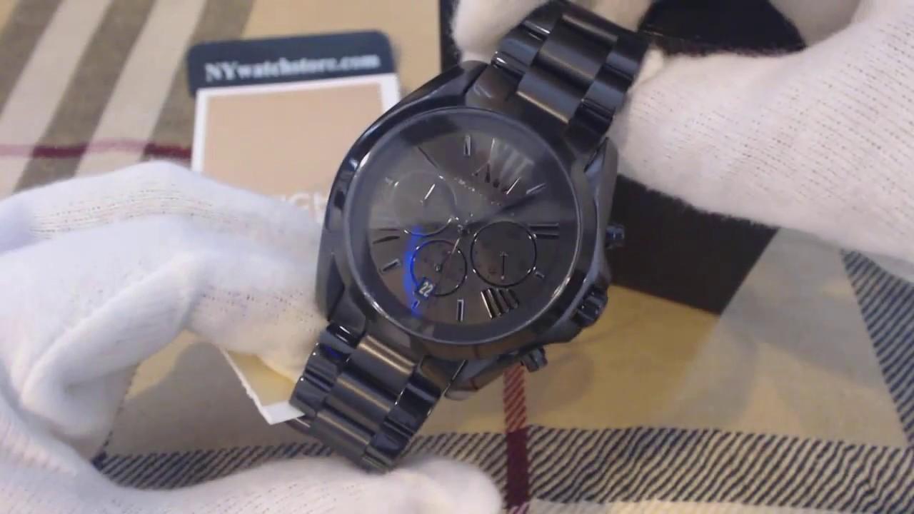 Black Michael Kors Bradshaw Chronograph Watch Mk5550