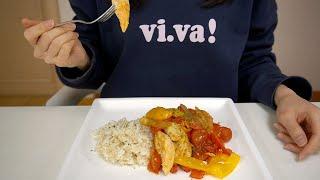 간편한 건강식 닭가슴살 파프리카 방울토마토 볶음