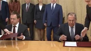 С.Лавров на подписании соглашения о сотрудничестве МИД-РВИО