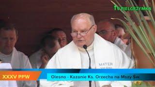 XXXV PPW - Olesno - Msza Św. i ślub - Kazanie ks. Orzecha - 2015-08-07