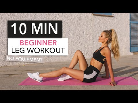10 MIN BEGINNER LEG WORKOUT .. with breaks! Booty, Thighs & Hamstrings / No Equipment I Pamela Reif