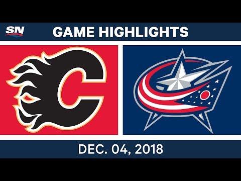 NHL Highlights | Flames vs. Blue Jackets - Dec 4, 2018