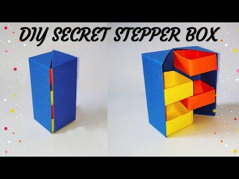 DIY Secret Stepper Box | Paper Craft | Secret Box | Paper Box | sweety trendzzz