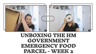 UNBOXING THE HM GOVERNMENT EMERGENCY FOOD PACKAGE  - Tanya Louise