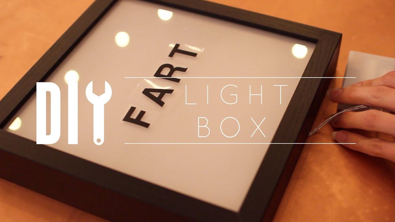 diy light box youtube. Black Bedroom Furniture Sets. Home Design Ideas