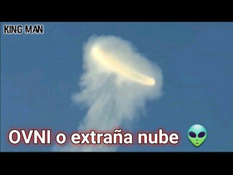 OVNI o anillo gigante con forma de nube, extraña nube u OVNI ?