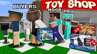 Minecraft NOOB vs PRO : OPENED a TOY STORE! NEW BUSINESS In Minecraft (Animation)