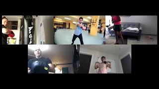 Boxing session on Zoom 08/26