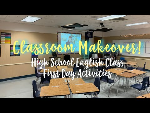 CLASSROOM MAKEOVER | High school classroom and first day activities!