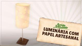 Luminária com Papel Artesanal
