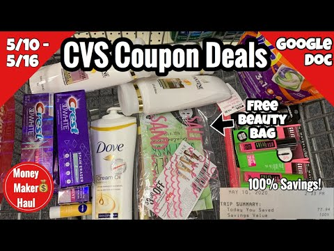 CVS Free & Cheap Coupon Deals & Haul | 5/10 – 5/16 | FREE Beauty Bag 💄and Money Makers! 🔥🔥🔥