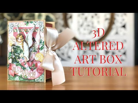 [Tutorial] 3D Altered Art Box Featuring Joy to the World: Club G45 Vol 10 - 2019 thumbnail