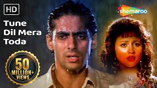 Tune Dil Mera Toda Kahi (HD) - Sanam Bewafa Songs - Salman Khan - Chandni - Lata Mangeshkar
