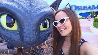 КАК ПРИРУЧИТЬ Берсика и Дракона! Влог из парка MotionGate   Монстры на каникулах   Dubai   Дубай
