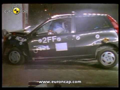 euro ncap fiat punto 1997 crash test youtube. Black Bedroom Furniture Sets. Home Design Ideas