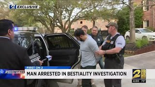 Man arrested in bestiality investigation
