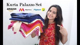 Amazon/Flipkart/Myntra Kurta Palazzo Set Haul || Latest Kurta Palazzo Set || Fashion & Trends