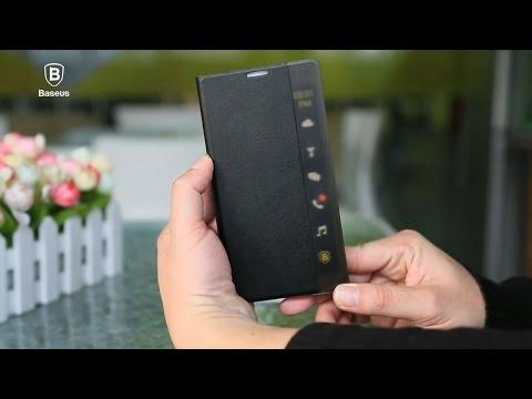 uk availability 55def 582ad Baseus APP Intelligent Transparent Side Window Smart Cover Case for ...