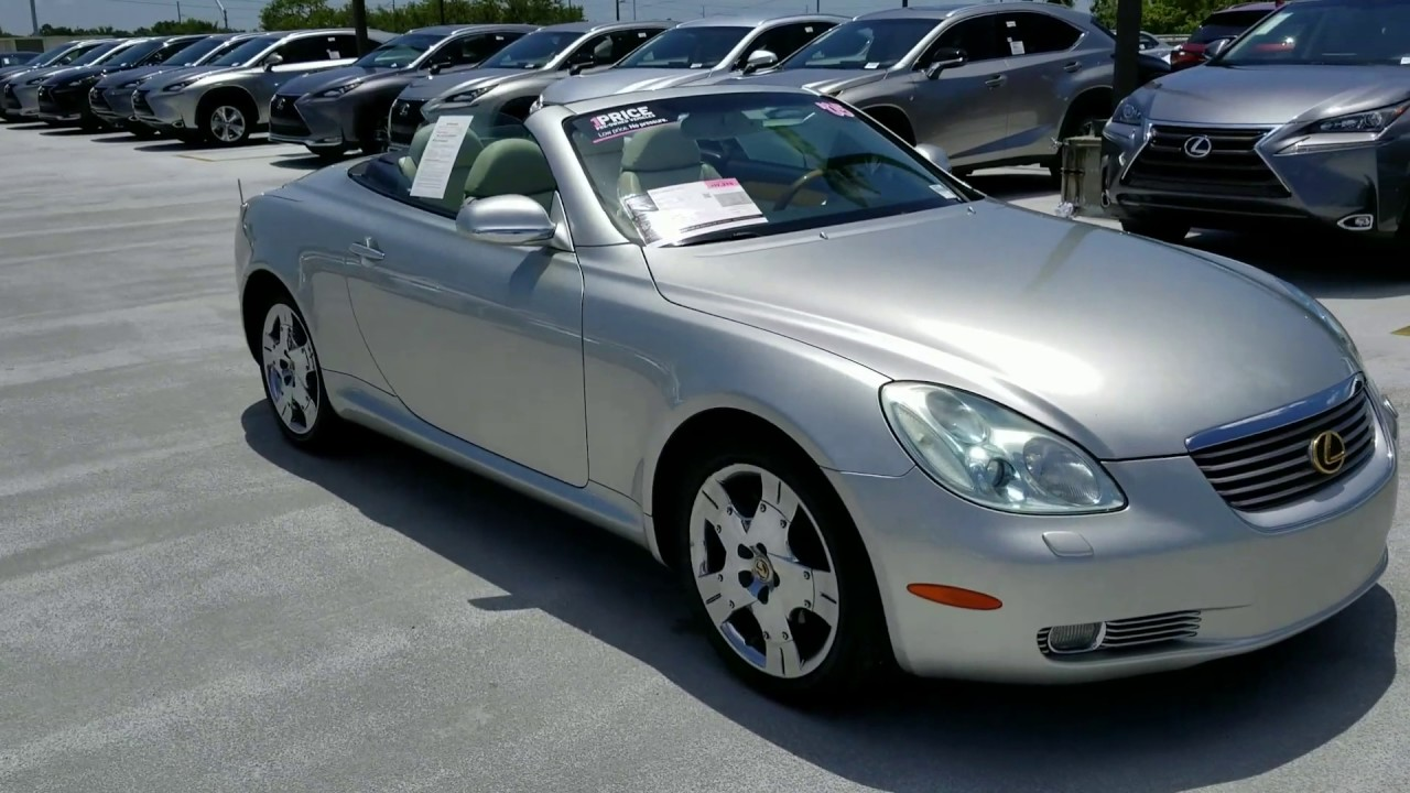 2005 Lexus Sc430 Review Inside And Out By Earl The Pearl At Tampa Hyundai