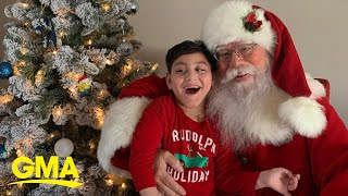 Boy with special needs shares special moment with Santa l GMA Digital