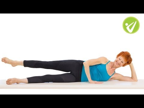 Side Kick Pilates Exercise Adrianne Crawford