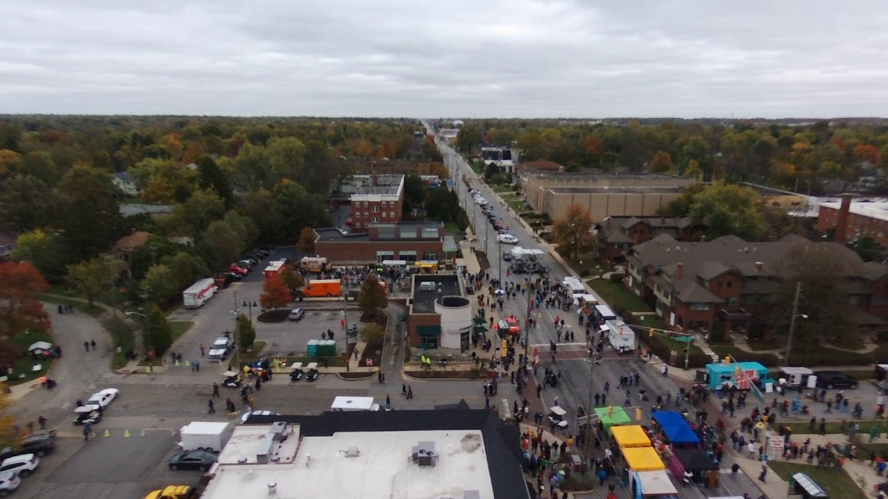 2017 Irvington Halloween Festival Drone Flight 3 - YouTube