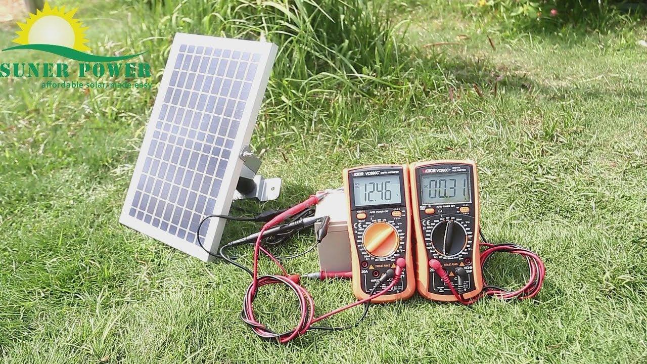 SUNER POWER BC 10W 12V Solar Battery Charger PRO YouTube