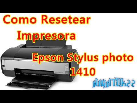 como resetear impresora epson stylus photo 1410 - YouTube