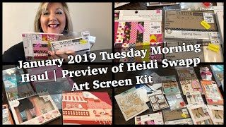 January 2019 Tuesday Morning Haul   Preview of Heidi Swapp Art Screen Kit