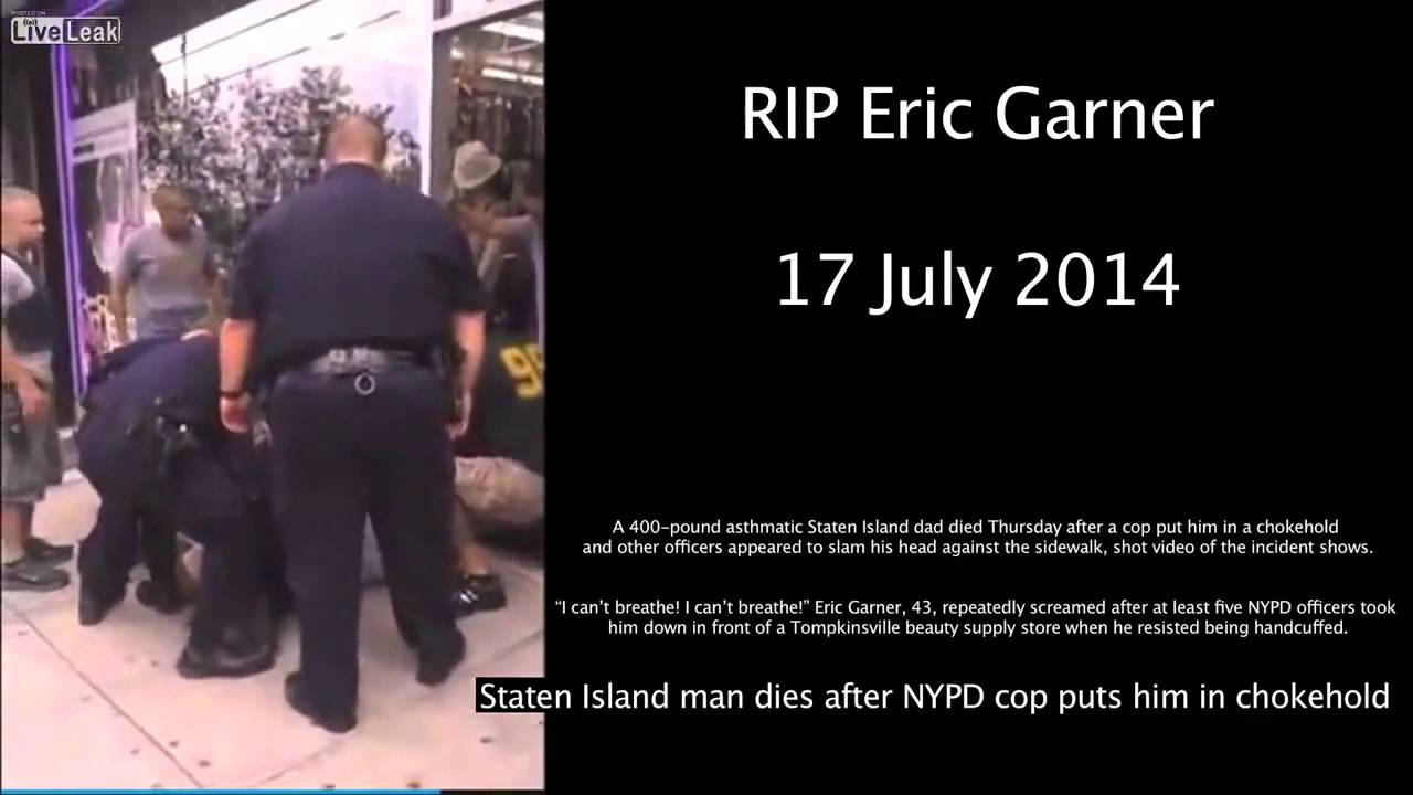 Multiple Nypd Cops Choke A Peaceful Man Eric Garner To