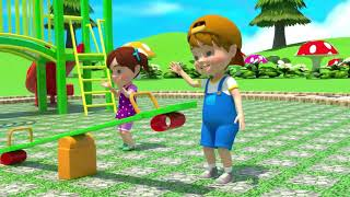Baby and Mother in Play Area: Educational Video for Kids