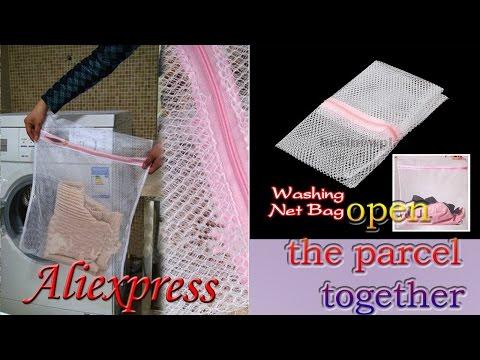 Мешок для стирки белья Алиэкспресс / Laundry bag in a washing machine from Aliexpress
