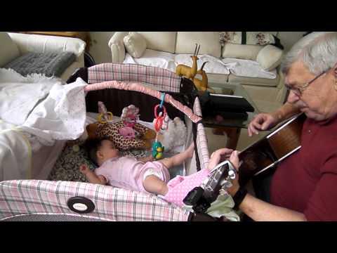 Great Grandpa Baby Sitting Analea