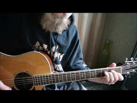"""Tutorial of Satyricon's """"Infinity Of Time And Space"""" (acoustic remake)"""