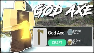 UNLOCKING THE GOD AXE RECIPE! (Roblox Booga Booga)